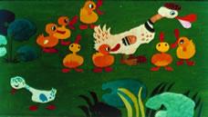 A rút kiskacsa, rajzolta Rákosy Anikó