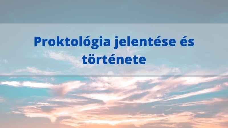 proktológia jelentése