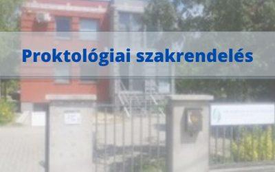Proktológiai szakrendelés